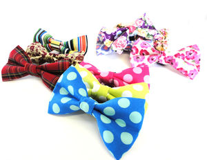 Slide On Dog Collar Bow Tie - dogs