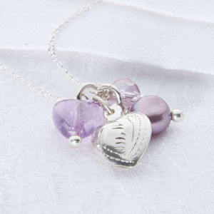 Girl's Sterling Silver Sweetheart Necklace - flower girl jewellery