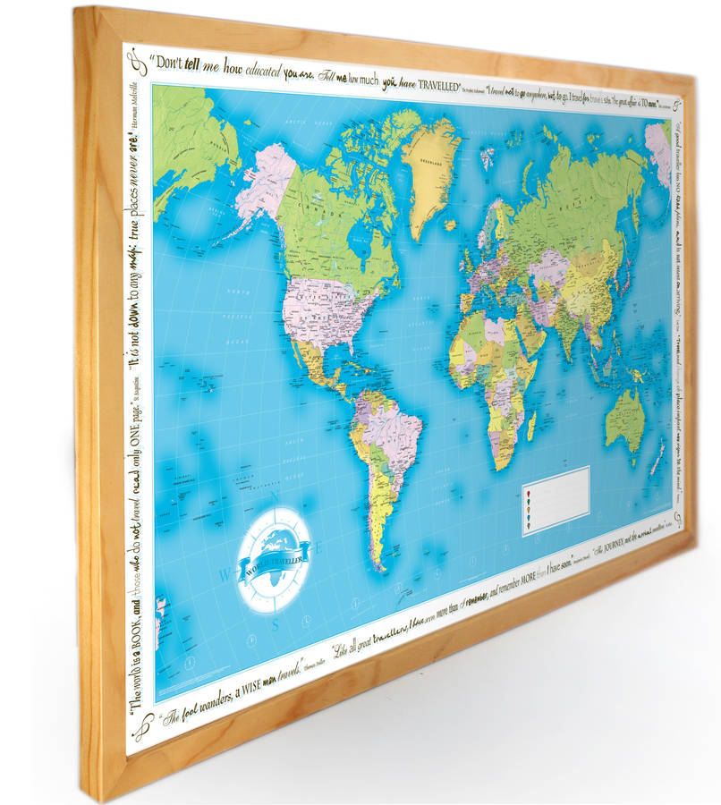 world traveller push pin map by thelittleboysroom – World Travel Map With Push Pins