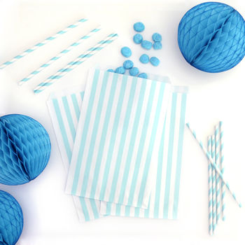 Striped Paper Party Bags