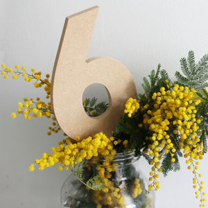 Decorate Your Own Wedding Table Number