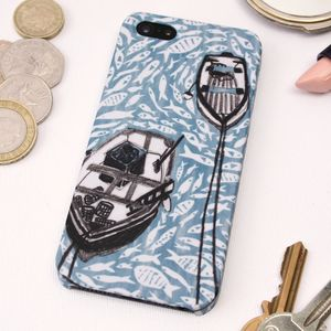 Boats In The Harbour iPhone Five/ 5S Case - bags & cases