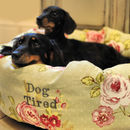 English Rose Floral Donut Dog Bed