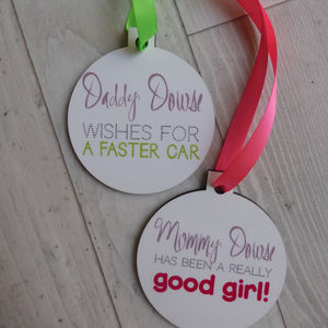 Personalised Christmas Decoration - tree decorations