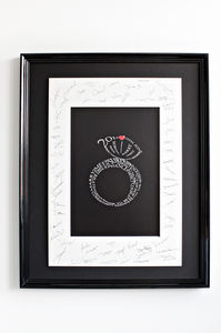 Personalised Engagement Print - art & pictures
