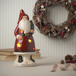 Ceramic Traditional Santa Tea Light Holder - christmas home accessories