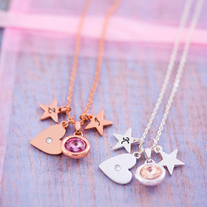 Design Your Own Heart Necklace - 21st birthday gifts
