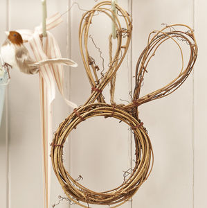 Bunny Wreath Easter Decoration