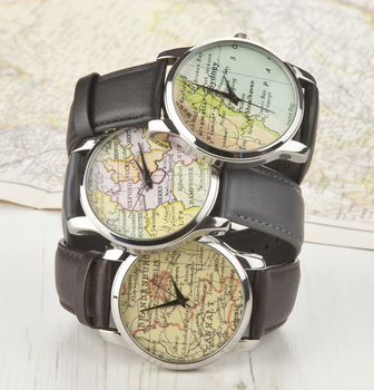 Personalised Map Location Watch Mens