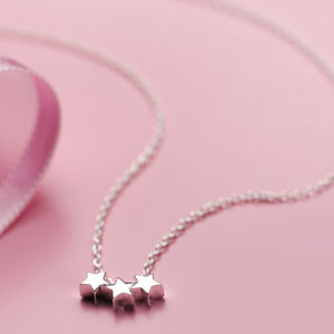 Child's Silver Star Dream Necklace - winter sale