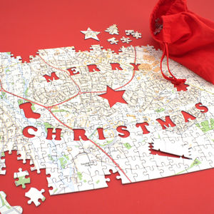 Christmas Personalised Postcode Jigsaw - toys & games
