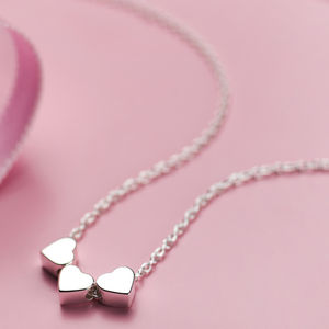 Child's Silver Heart Dream Necklace - christening gifts