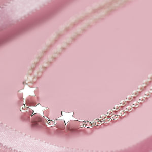 Child's Silver Star Dream Bracelet - wedding fashion