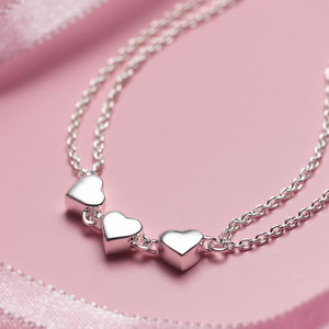 Child's Silver Heart Dream Bracelet - jewellery gifts for children
