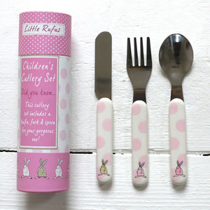 Baby Girl's First Cutlery Set