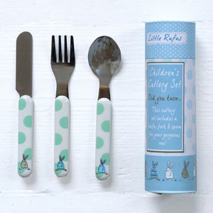 Baby Boy's First Cutlery Set