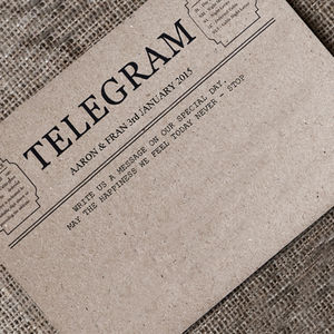 Guest Book Telegram Cards - wedding, engagement & anniversary cards