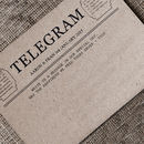 Guest Book Telegram Cards