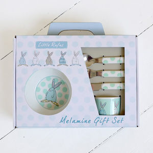 Baby Boy's Six Piece First Dinner Set - christening gifts