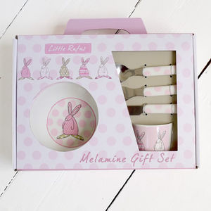 Baby Girl's Six Piece First Dinner Set