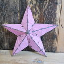 Pink Amish Metal Barn Star