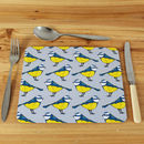 Blue Tit Placemat Set