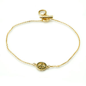 Peace Symbol Gold Vermeil Bracelet - bracelets & bangles