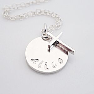 Sterling Silver Christening Necklace - necklaces & pendants