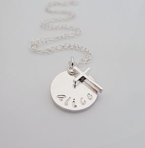 Sterling Silver Christening Necklace