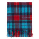 Blue Tartan Throw