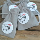 Christmas Sheep Advent Badges And Treat Bags
