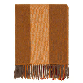 Sandy Striped Wool Throw
