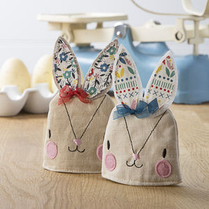 Appliqued Bunny Egg Cosy - home