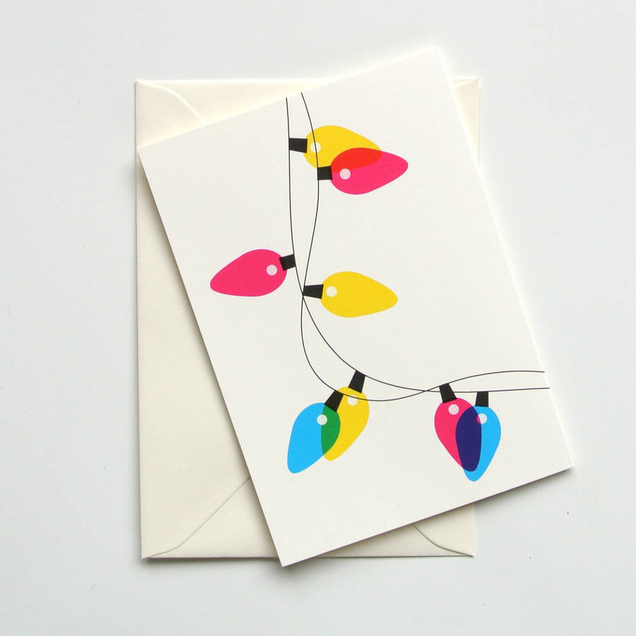 Festive Lights Mixed Pack Of Eight Christmas Cards By Ruka