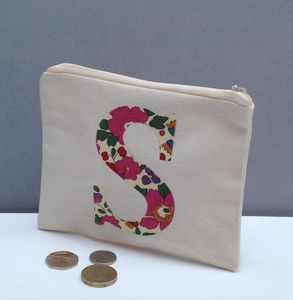 Liberty Print Monogrammed Coin Purse - shop by price