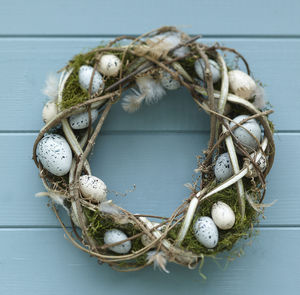 Egg And Feather Wreath