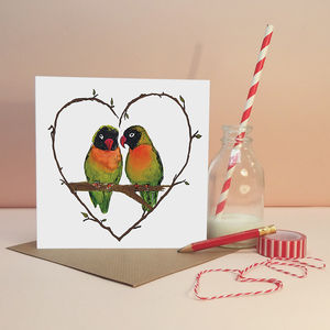 'Love Birds' Greeting Card - perfect pair gifts