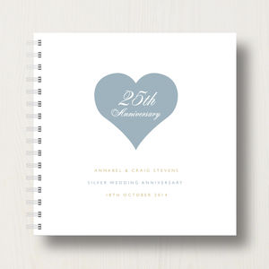Personalised 25th Silver Anniversary Album - photo albums