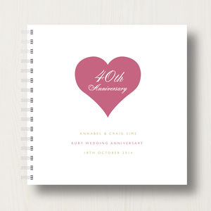 Personalised 40th Ruby Anniversary Album - home accessories