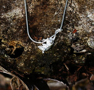 Silver Scrambling Harvest Mouse Necklace