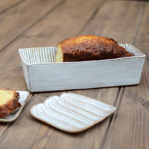Fluted Ceramic Large Loaf Mould - kitchen