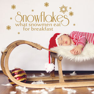 Snowflakes, What Snowmen Eat Wall Sticker Quote - kitchen