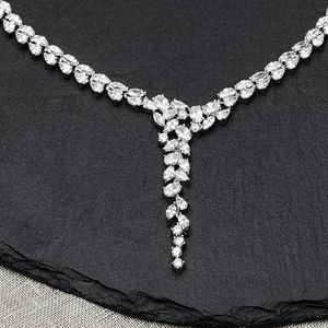 Cascade Crystal Necklace - wedding fashion