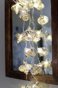Antique White Handmade Glass Fairy Light String - christmas lights
