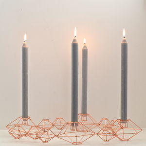 Danish Candle Holder In Soft Copper