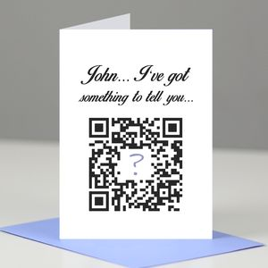 Qr Code Announcement Card - mother's day gifts