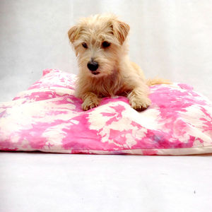Pink Tie Dye Dog Bed Cover - floor cushions