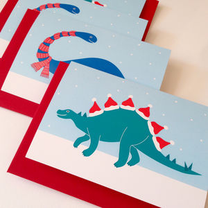 Dinosaur Christmas Cards - cards & wrap