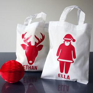 Personalised Christmas Cotton Treat Bag