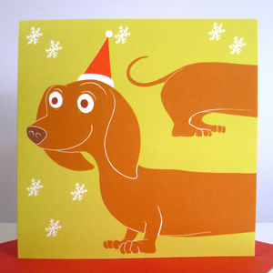 Dachshund Christmas Cards - seasonal cards
